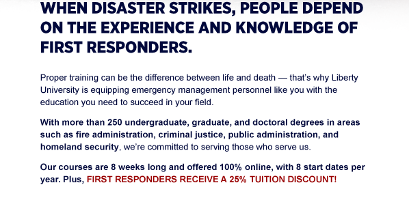 When disaster strikes, people depend on the experience and knowledge of first responders.